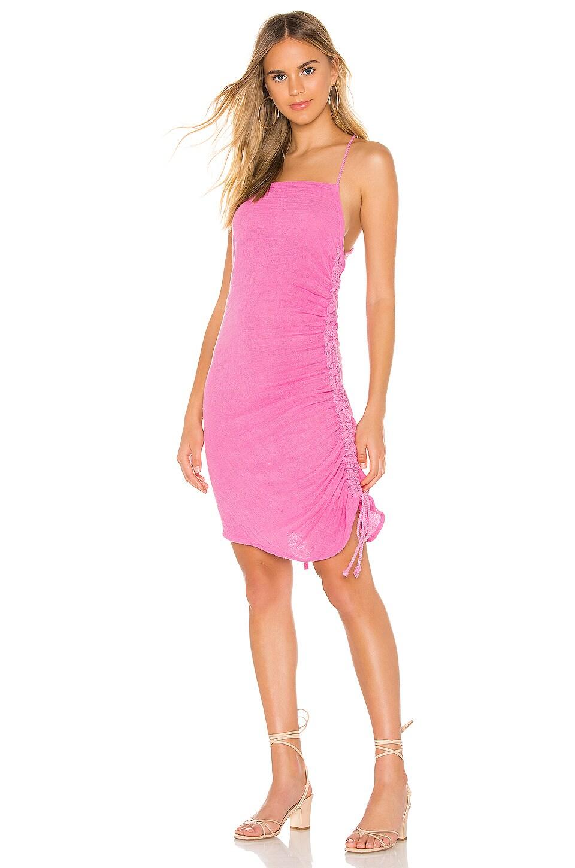 Jen's Pirate Booty Crossings Mini Dress in Sky Pink