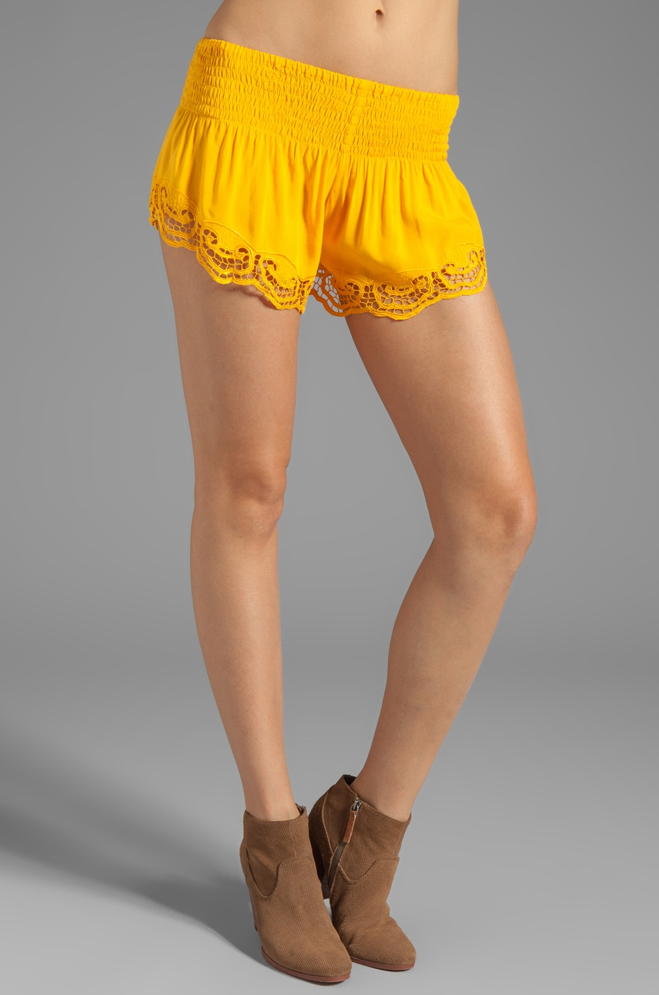 Jen's Pirate Booty Simplicity Shorties in Yellow
