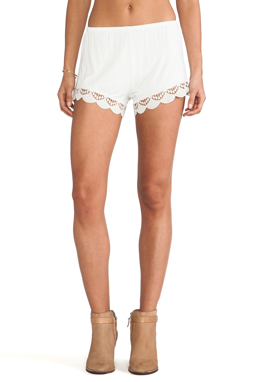 Jen's Pirate Booty Peek-A-Boo Cheeky Shorts in Ivory