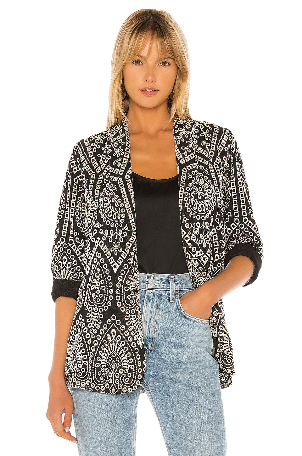 Jen's Pirate Booty Costa Del Sol Jacket in Marble Mariachi Eyelet
