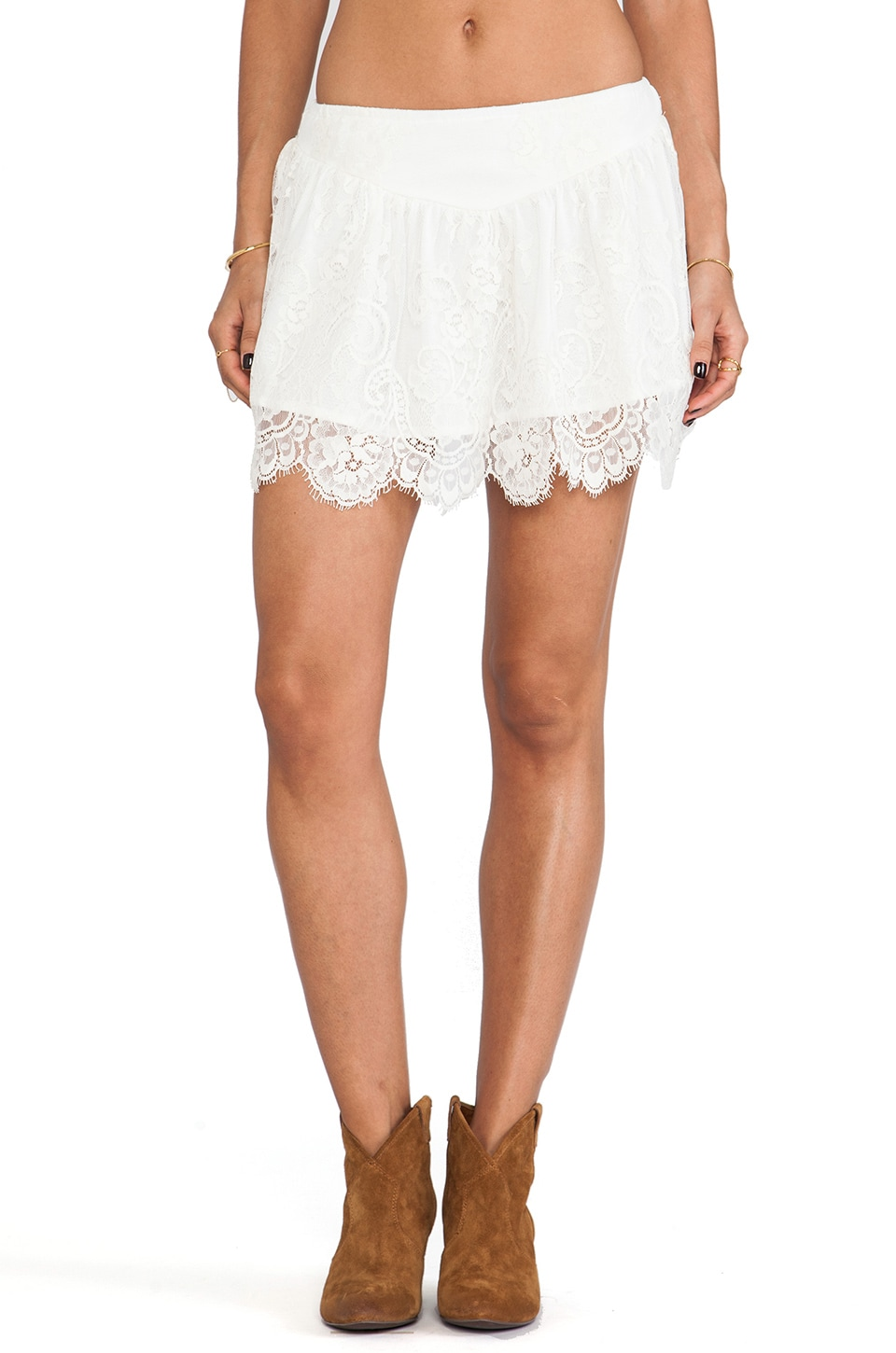 Jen's Pirate Booty Ethereal Moon Dance Mini Skirt in White Sand