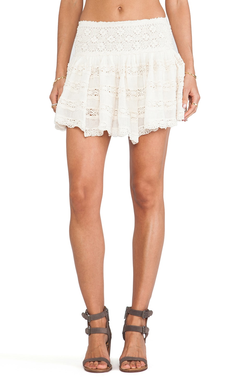 Jen's Pirate Booty Clover Mini Skirt in Natural