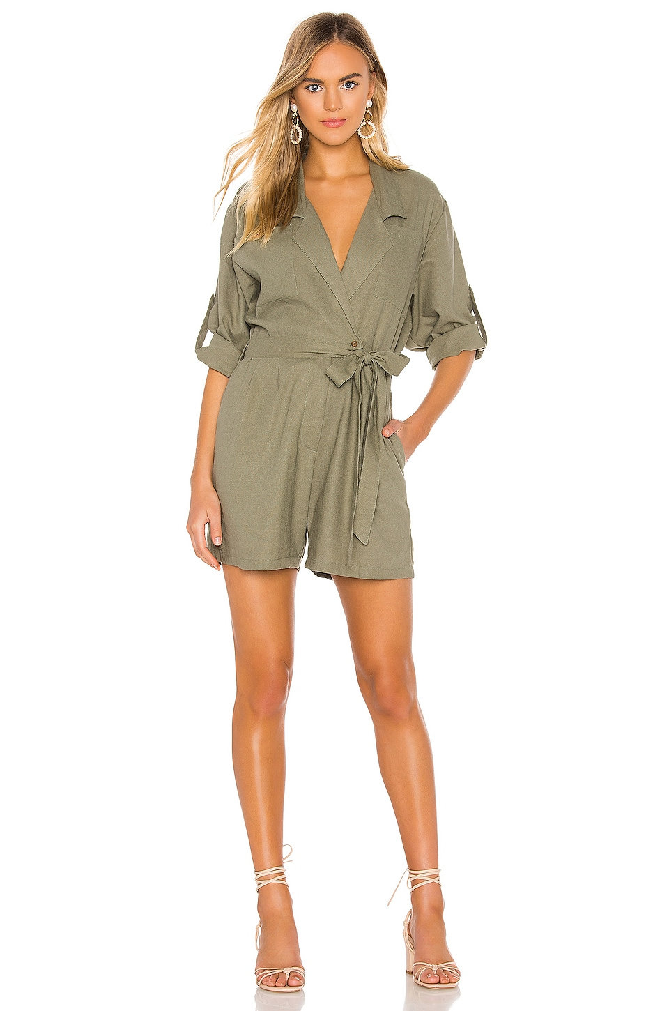 Jen's Pirate Booty Imperial Romper in Military Green