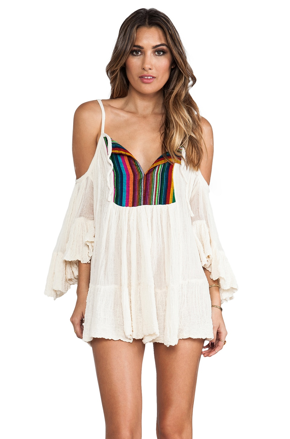 Jen's Pirate Booty T&B El Matador Dress in Colorful Stripe/Natural