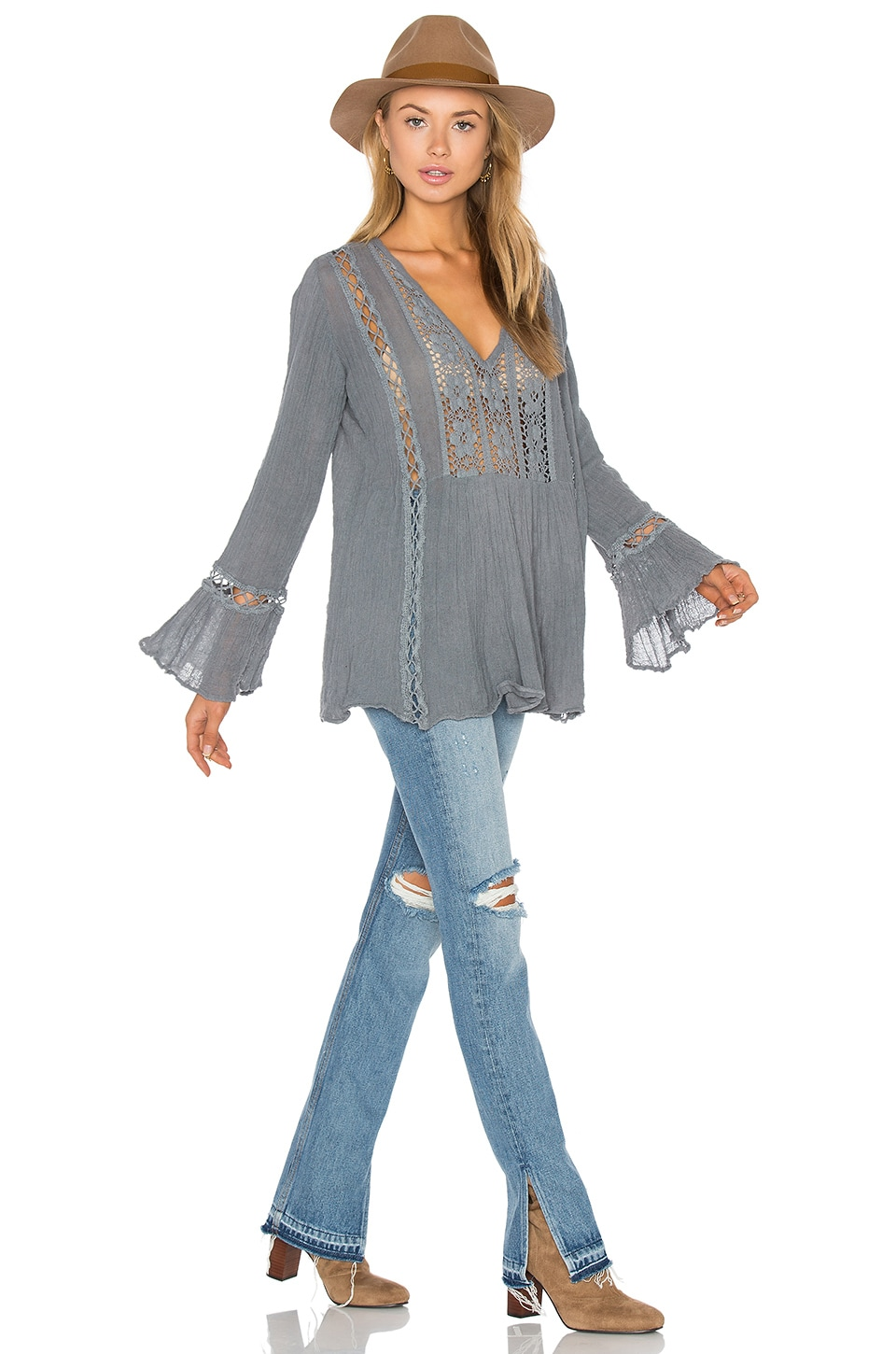 Jen's Pirate Booty Lakeview Tunic Top in Storm