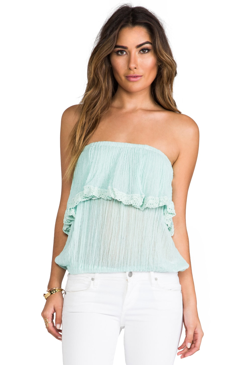 Jen's Pirate Booty Cha Cha Tube Top in Mint
