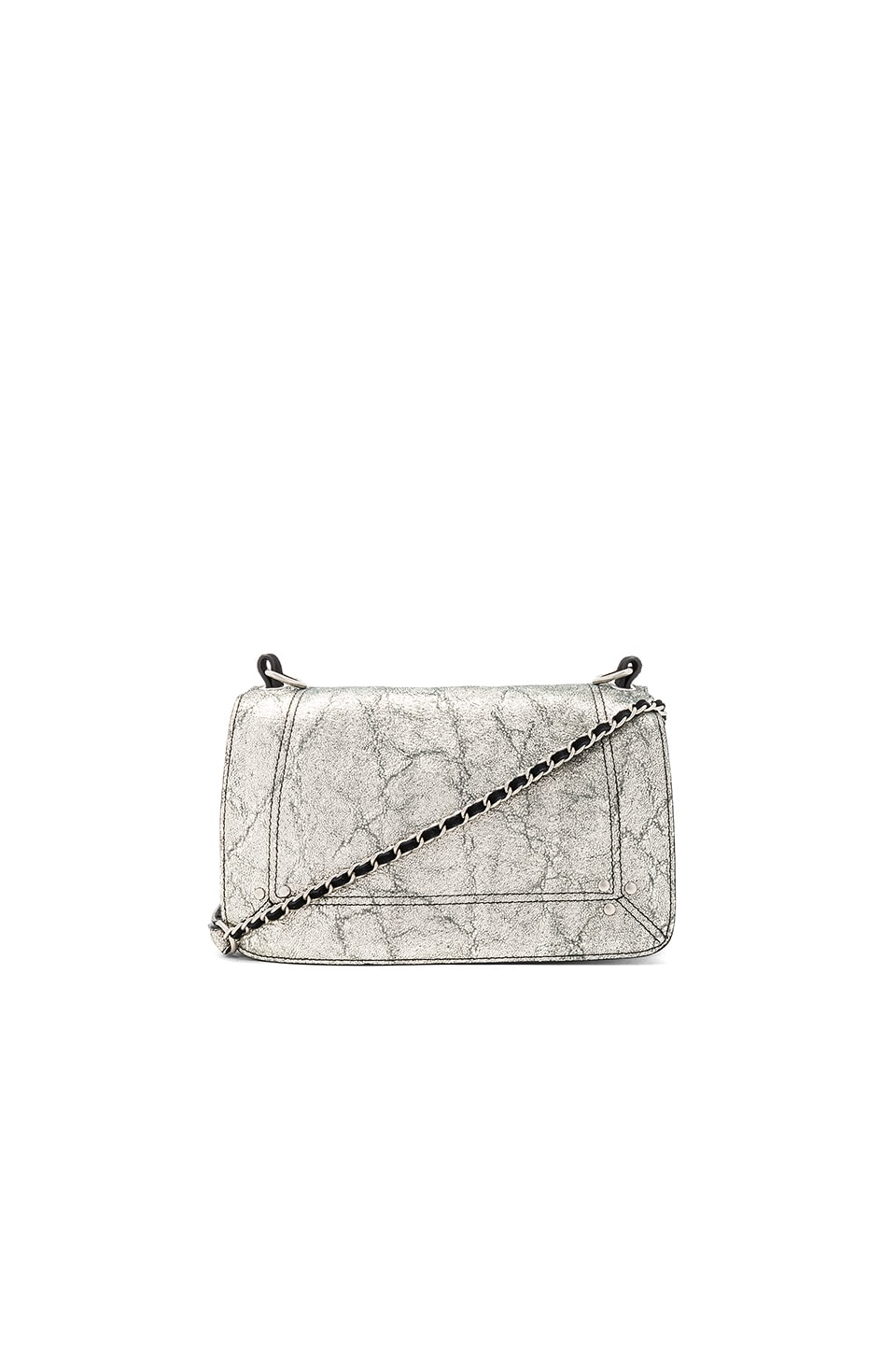 Jerome Dreyfuss Bobi Crossbody in Lamine Silver