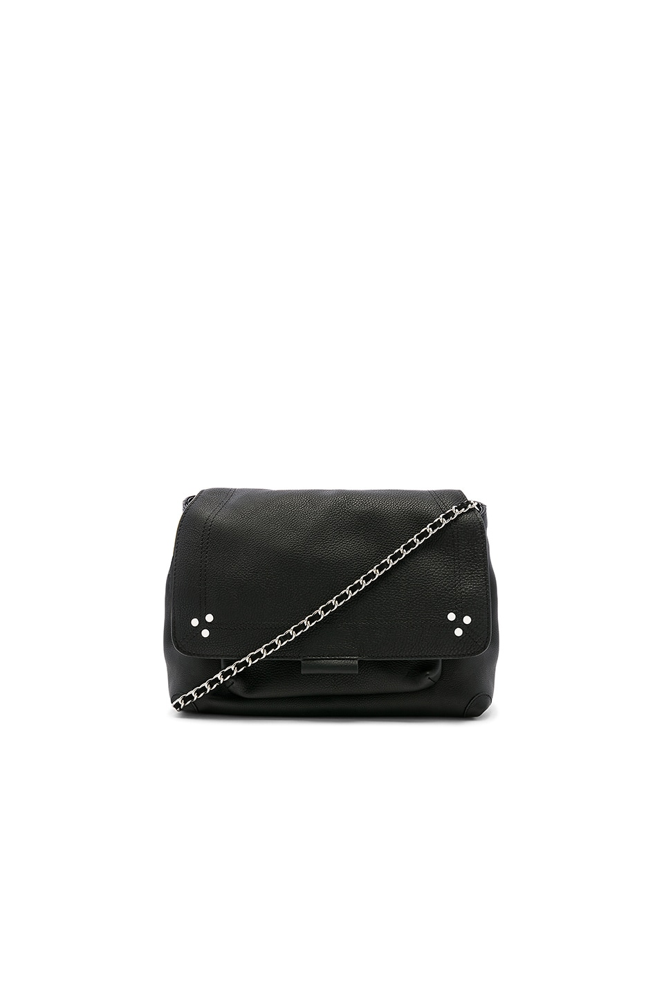 Jerome Dreyfuss Lulu Medium Bag in Noir Silver
