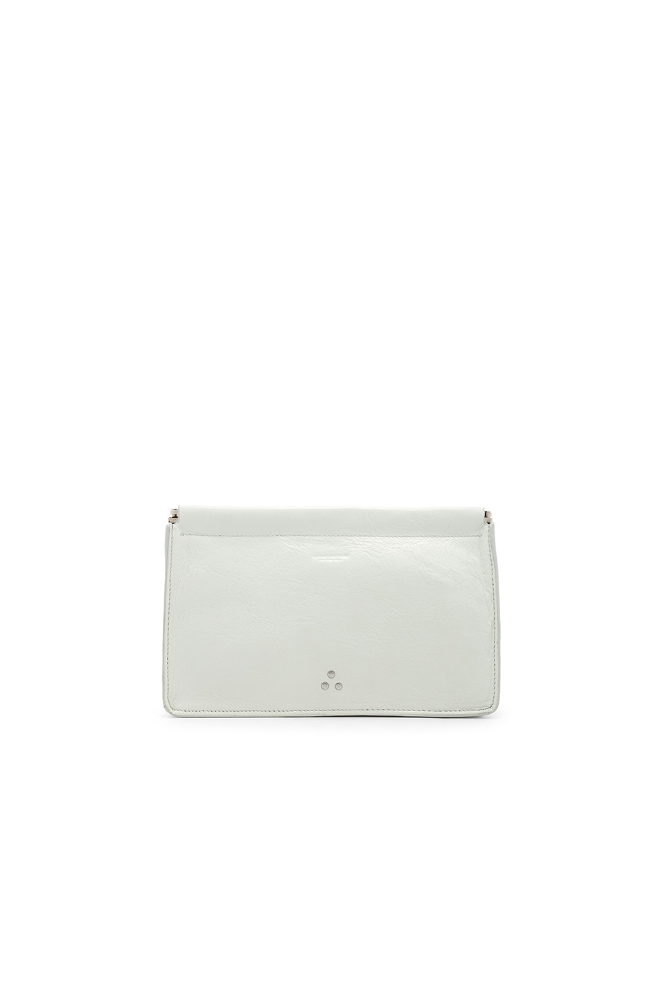 Jerome Dreyfuss Popoche Clic Clac Large Clutch in Froisse Blanc