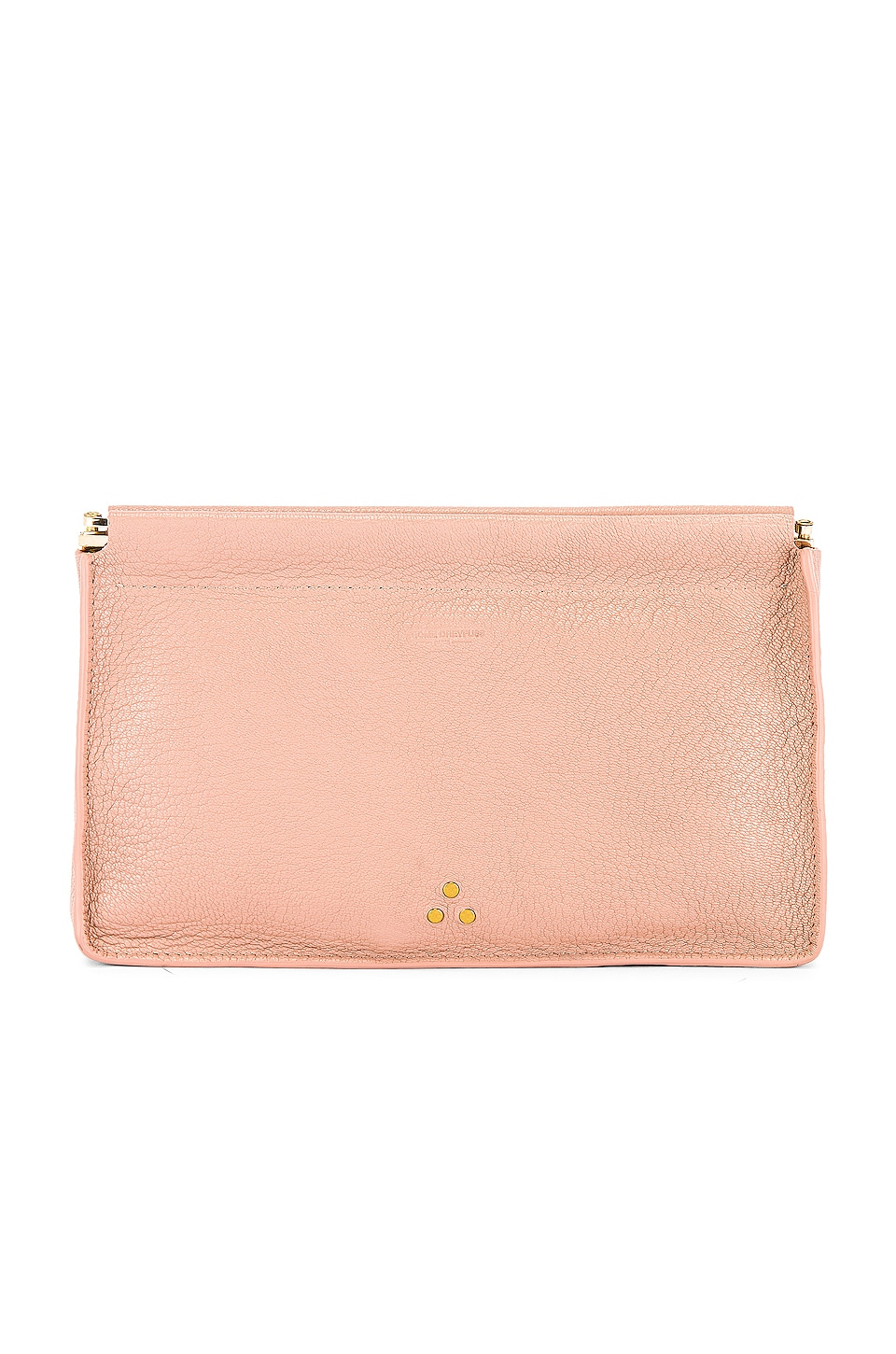 Jerome Dreyfuss Clic Clac Large Clutch in Rose
