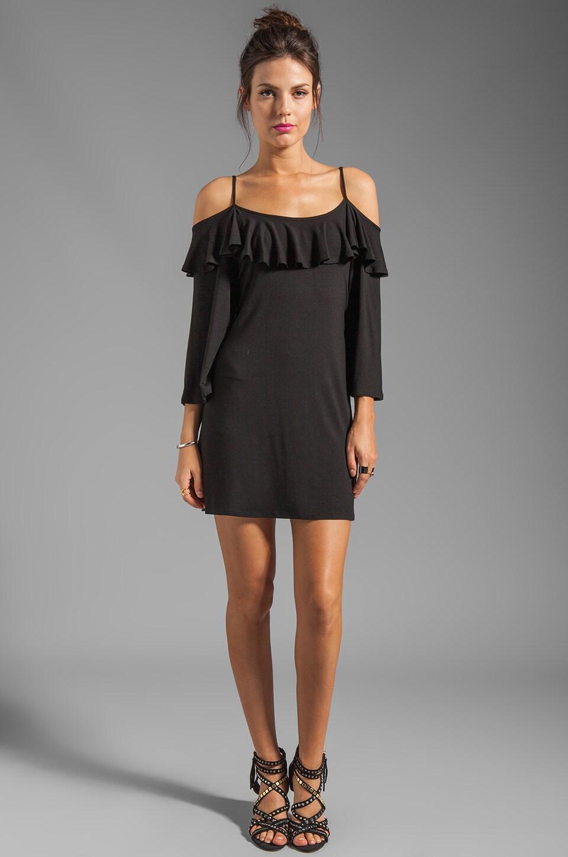 James & Joy Natalie Open Shoulder Dress in Black