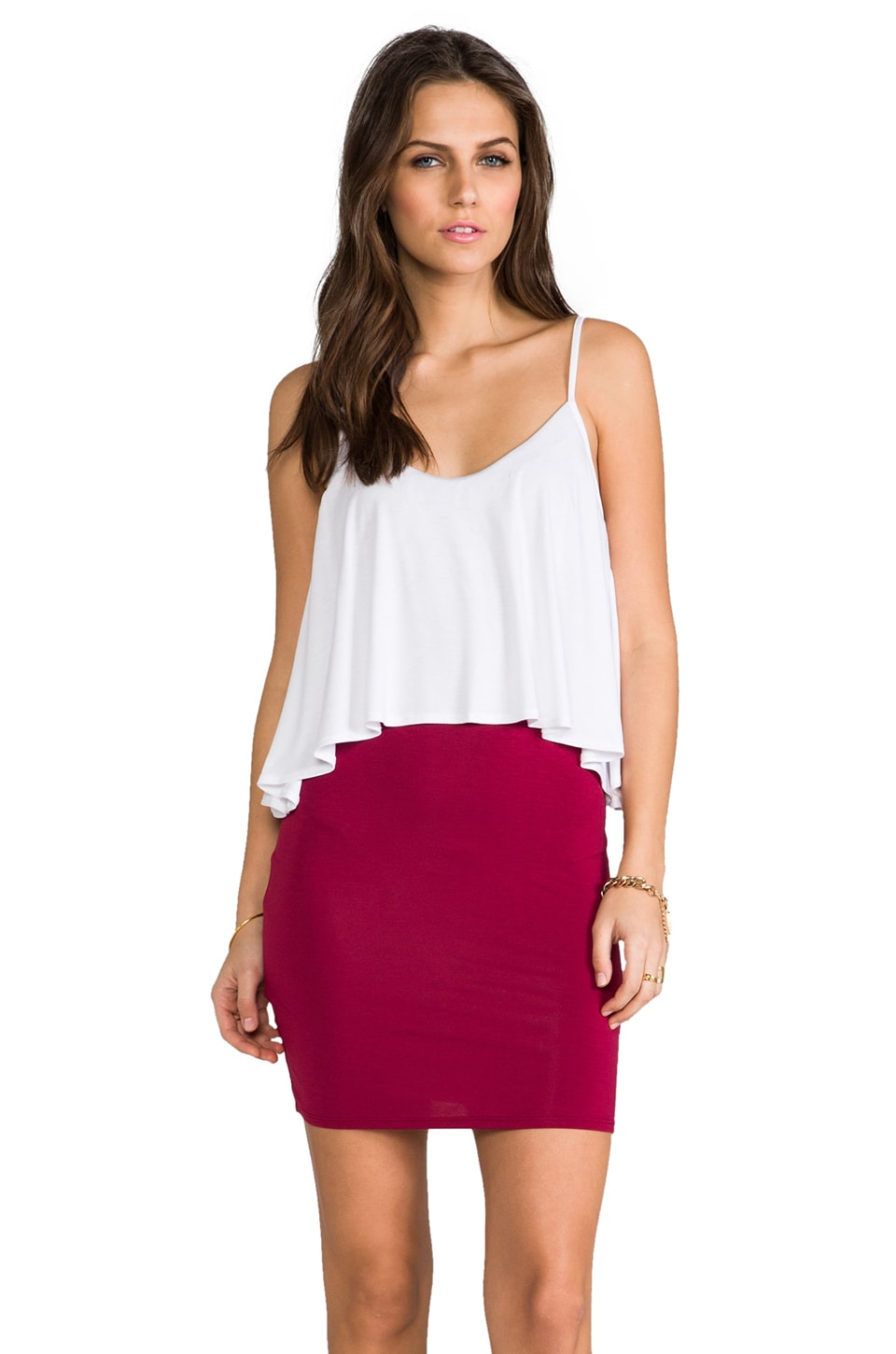 James & Joy Gameday II Cami Dress in White & Red