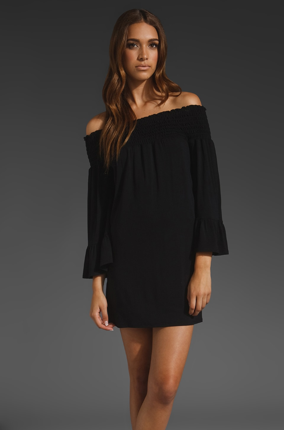 James & Joy Angella Off the Shoulder Dress in Black
