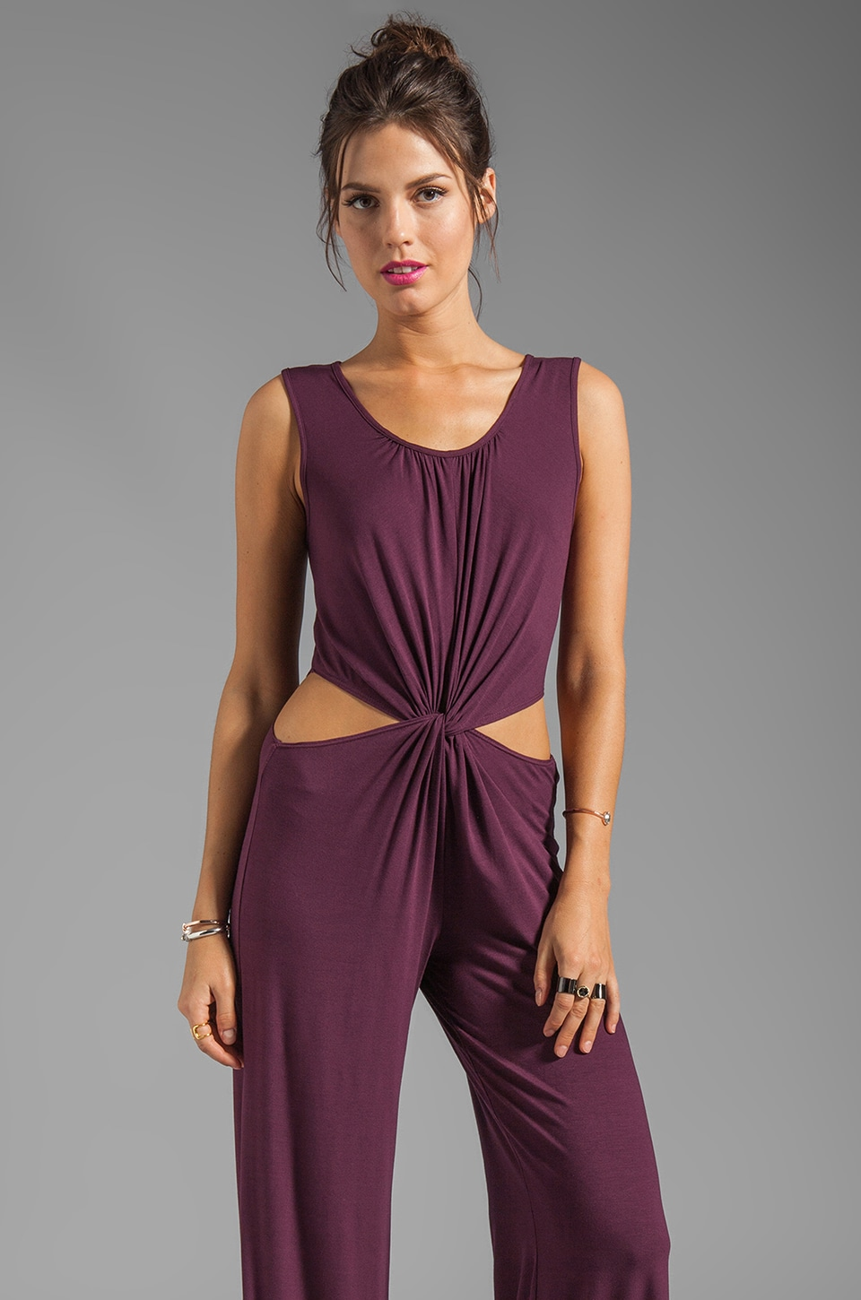 James & Joy Savannah Jumpsuit in Wine