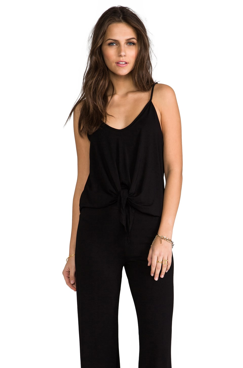 James & Joy Scarlet Tie Jumpsuit in Black