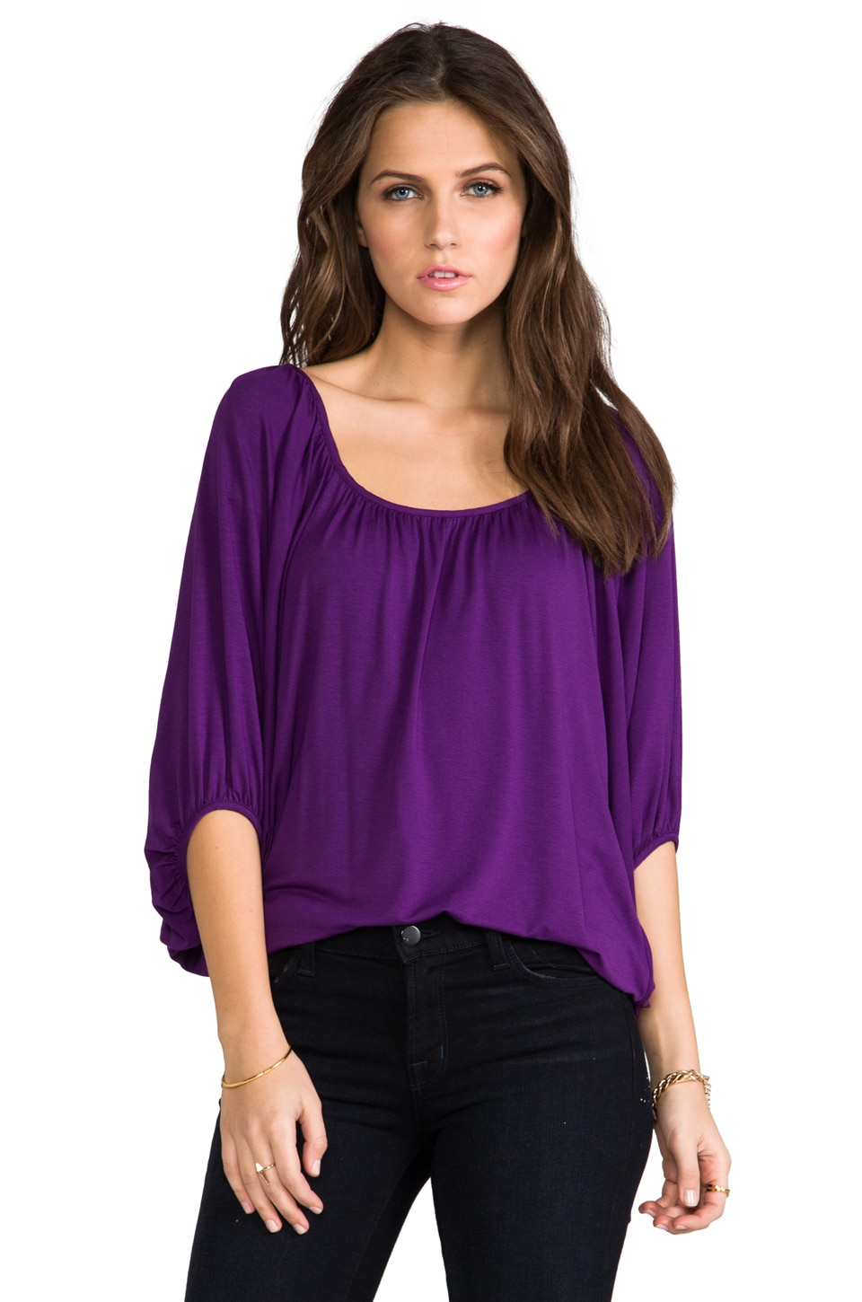 James & Joy James Top in Plum