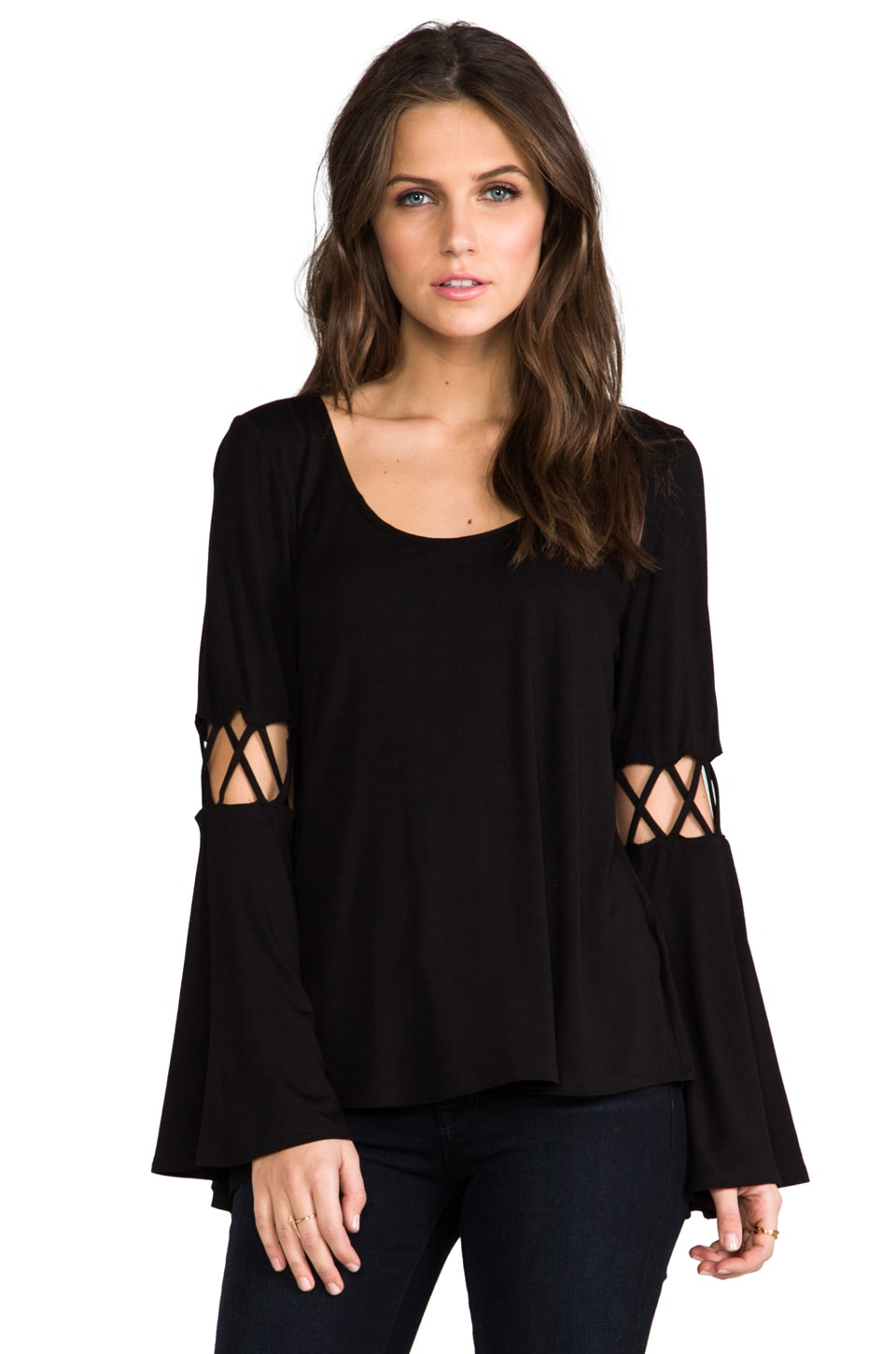 James & Joy Dixie Top in Black