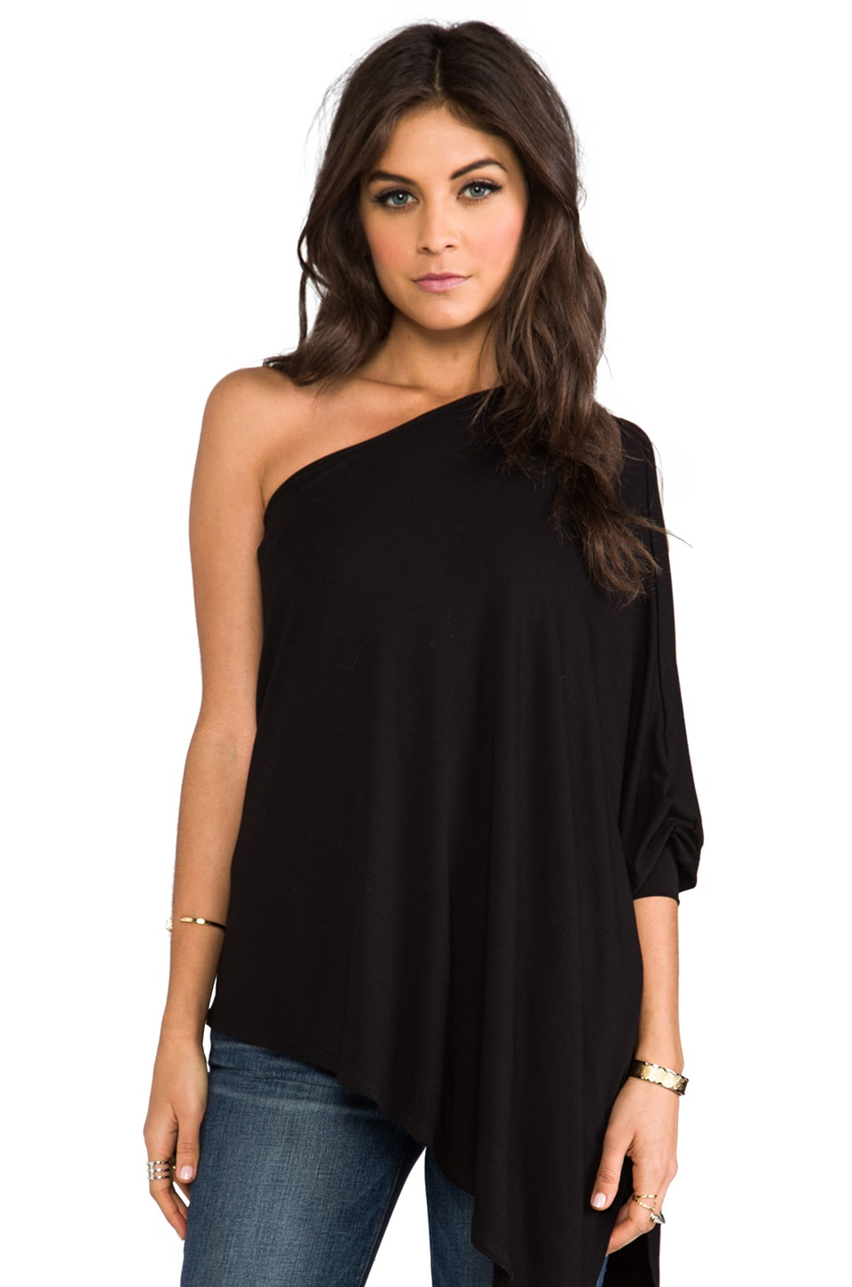 James & Joy Poncho Top in Black
