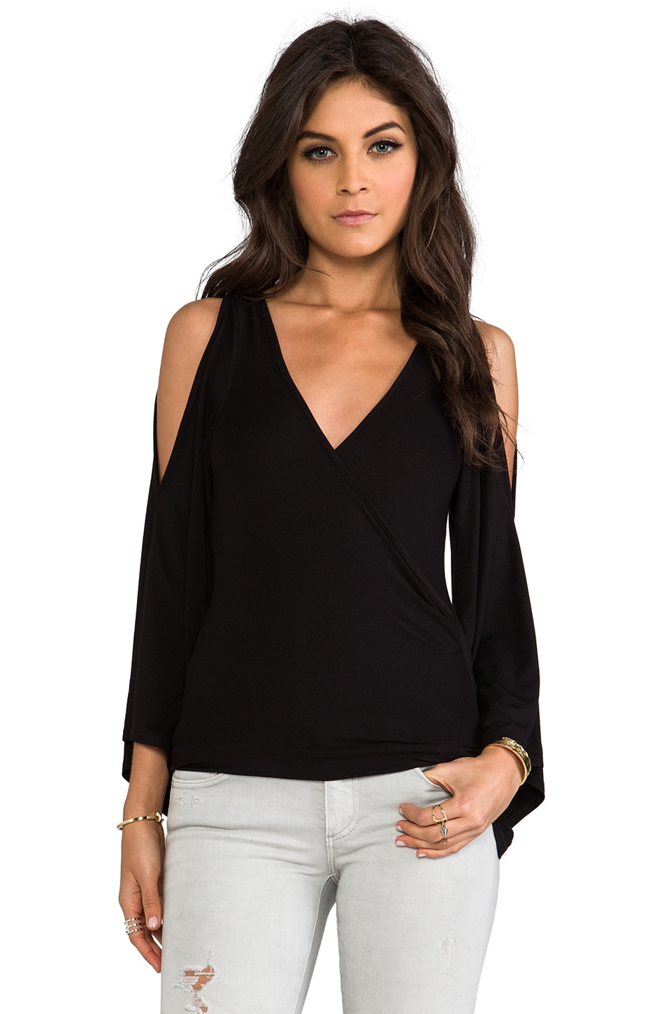 James & Joy Kelsey Top in Black