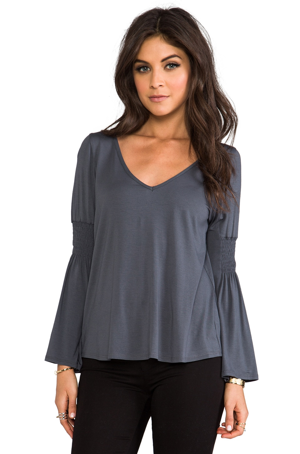 James & Joy Mallory Top in Charcoal