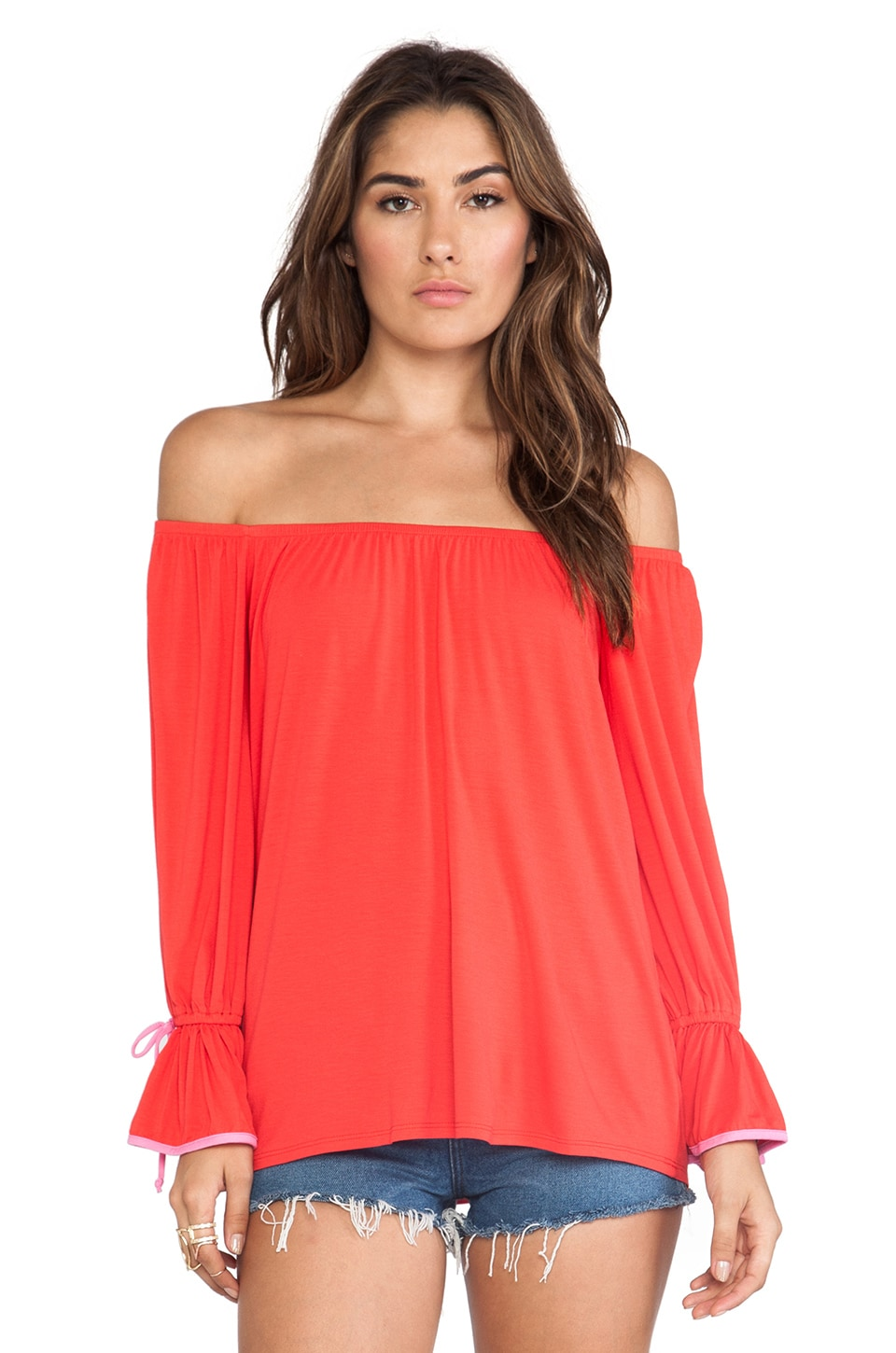 James & Joy Angelina Top in Dark Orange