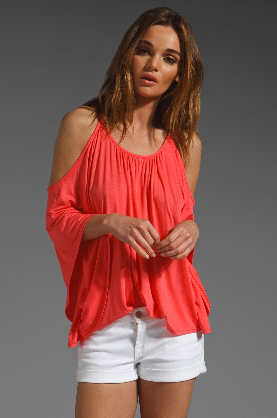 James & Joy Nick Top in Coral