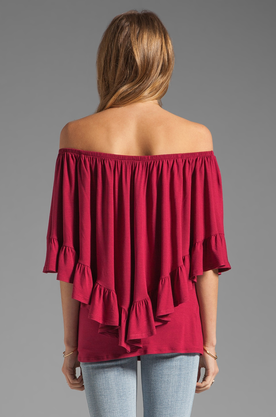 James & Joy Haley Convertible Top in Berry