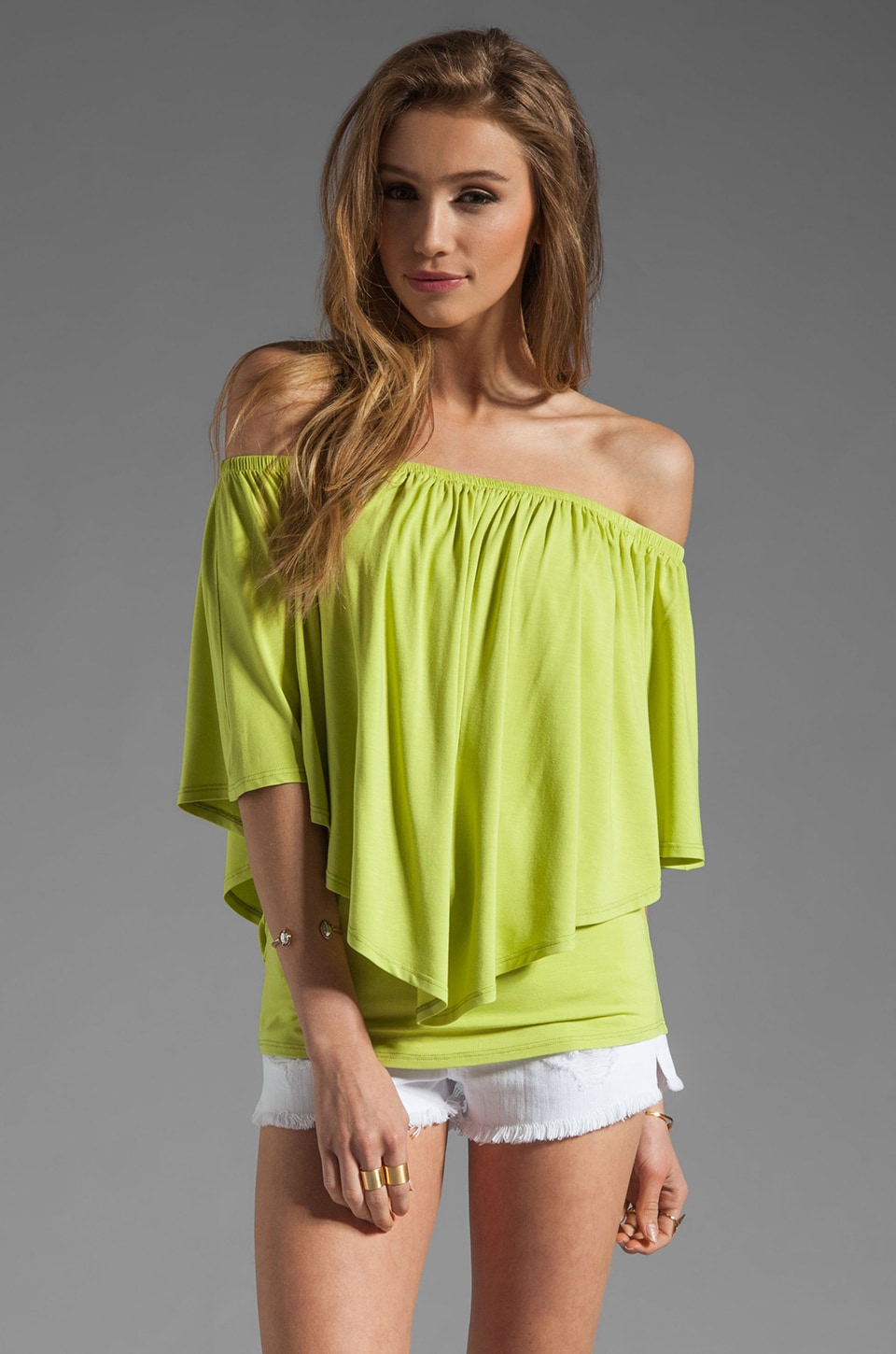James & Joy Mina Convertible Top in Lime