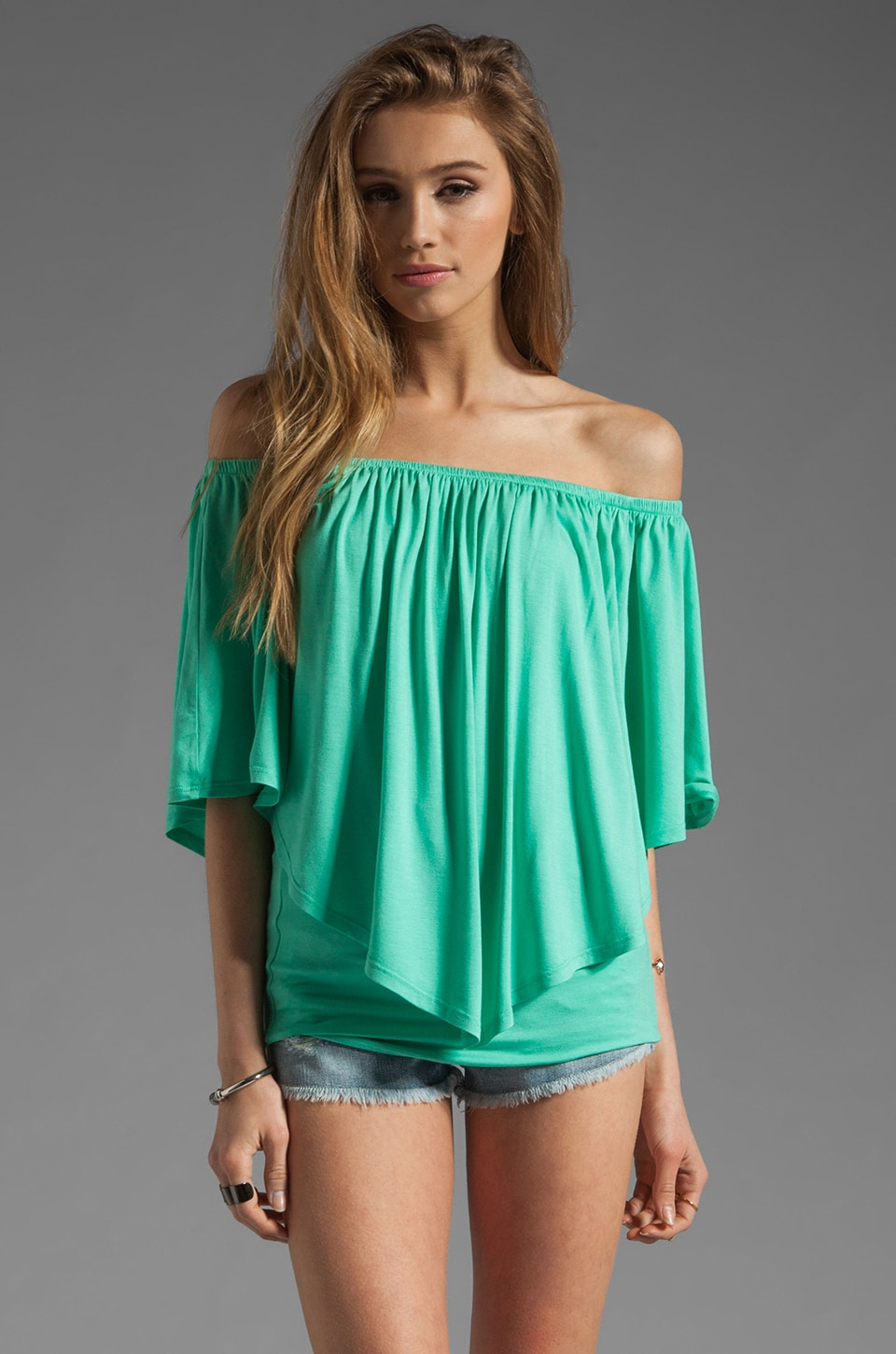 James & Joy Mina Convertible Top in Seafoam