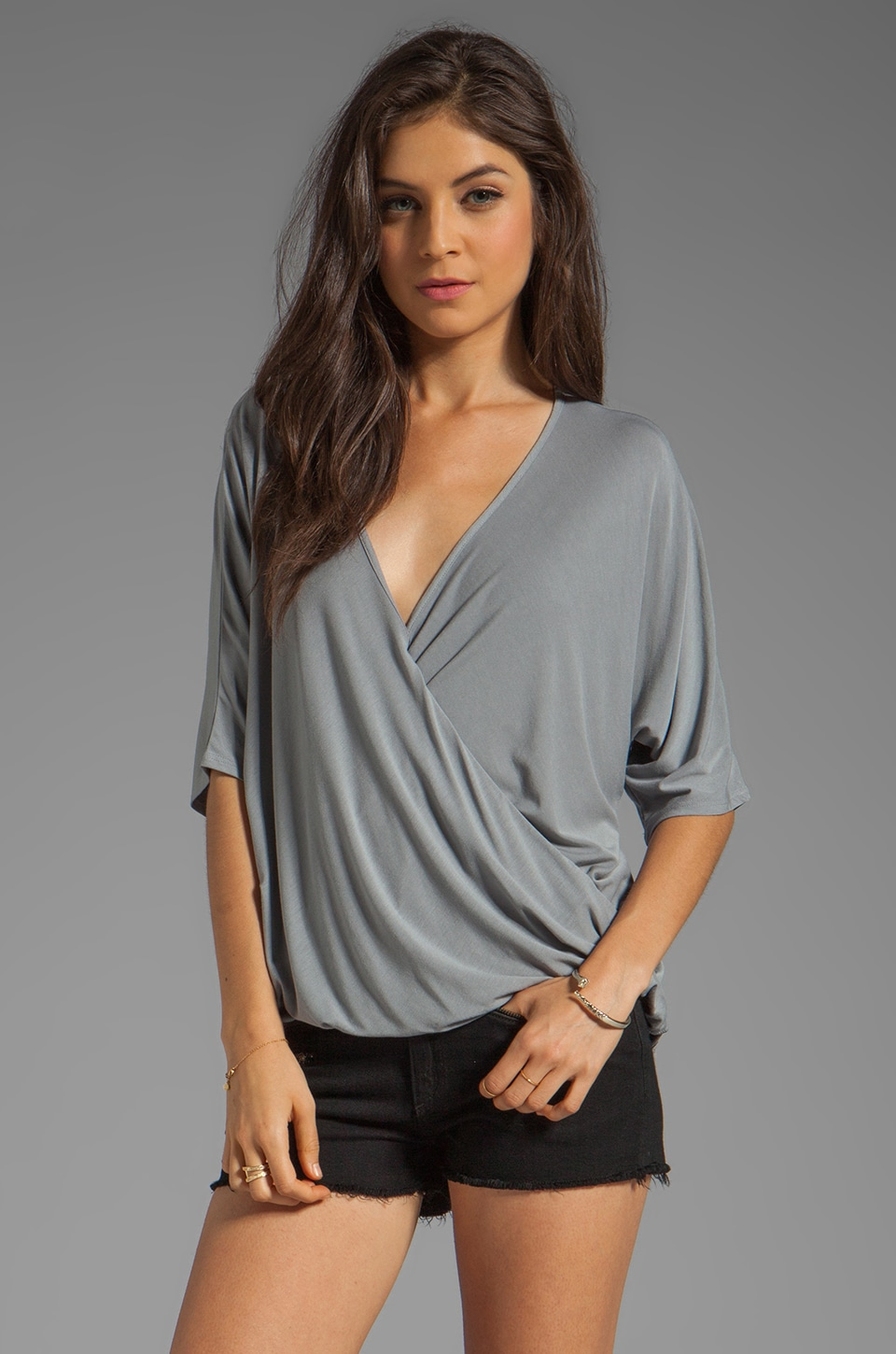 James & Joy Lindsay Blouse in Grey