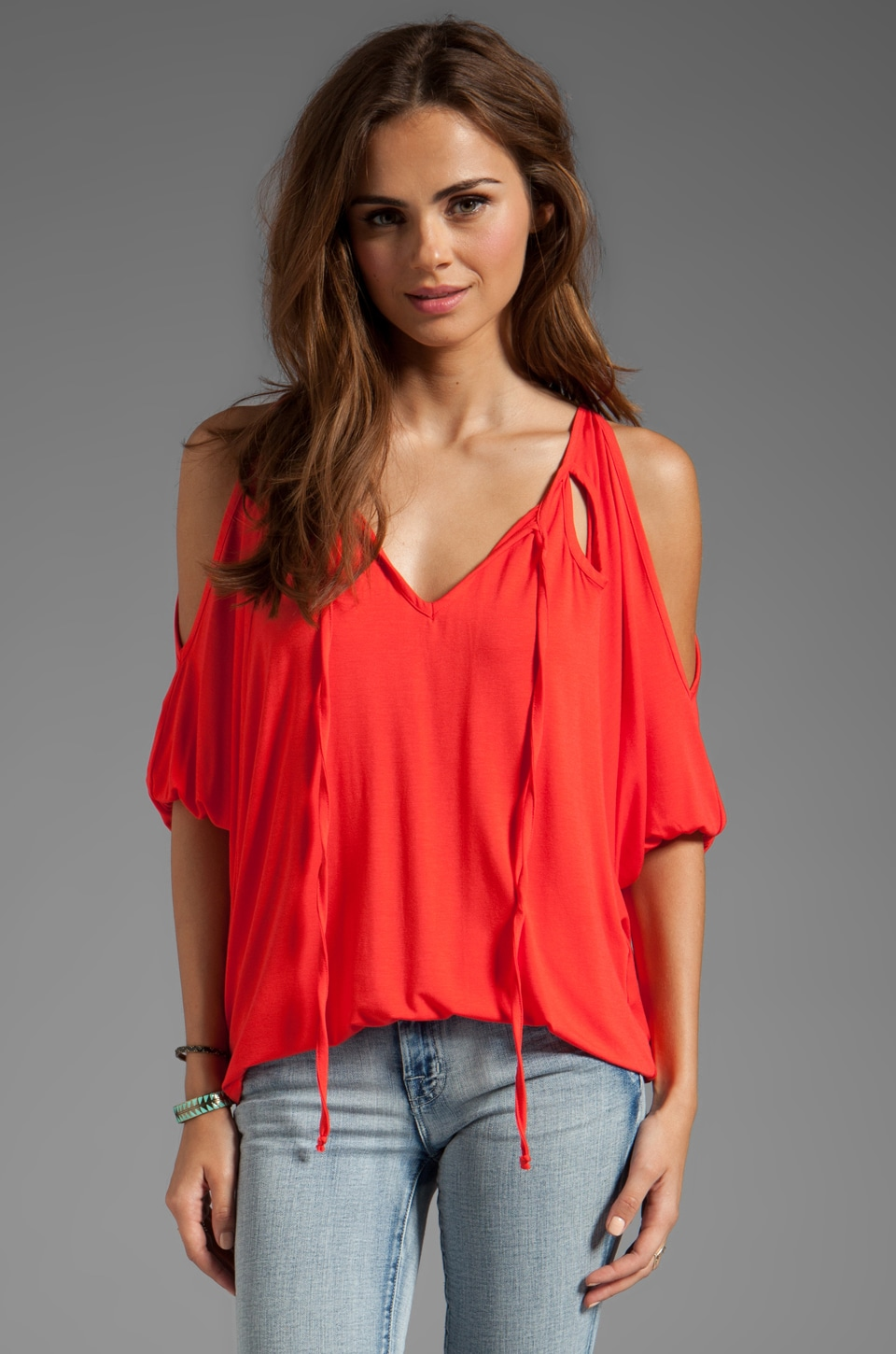 James & Joy Serena Cut Out Top in Dark Orange