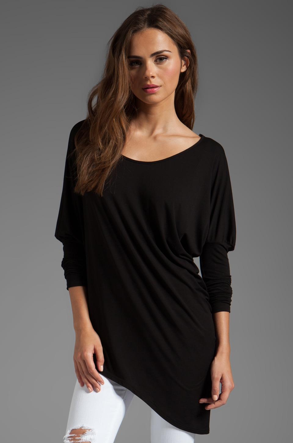 James & Joy Paige Asymmetrical Top in Black