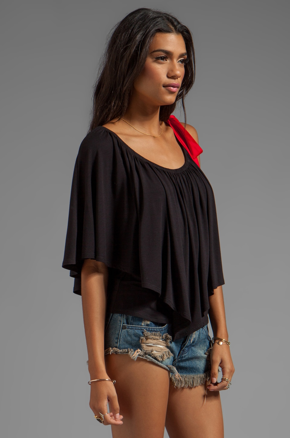 James & Joy Gameday II Tie Top in Black