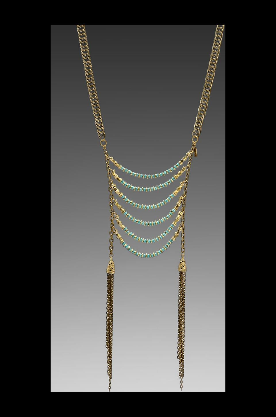 Vanessa Mooney DEPRECATED Vanessa Mooney Age Of Reason Statement Necklace in Turquoise
