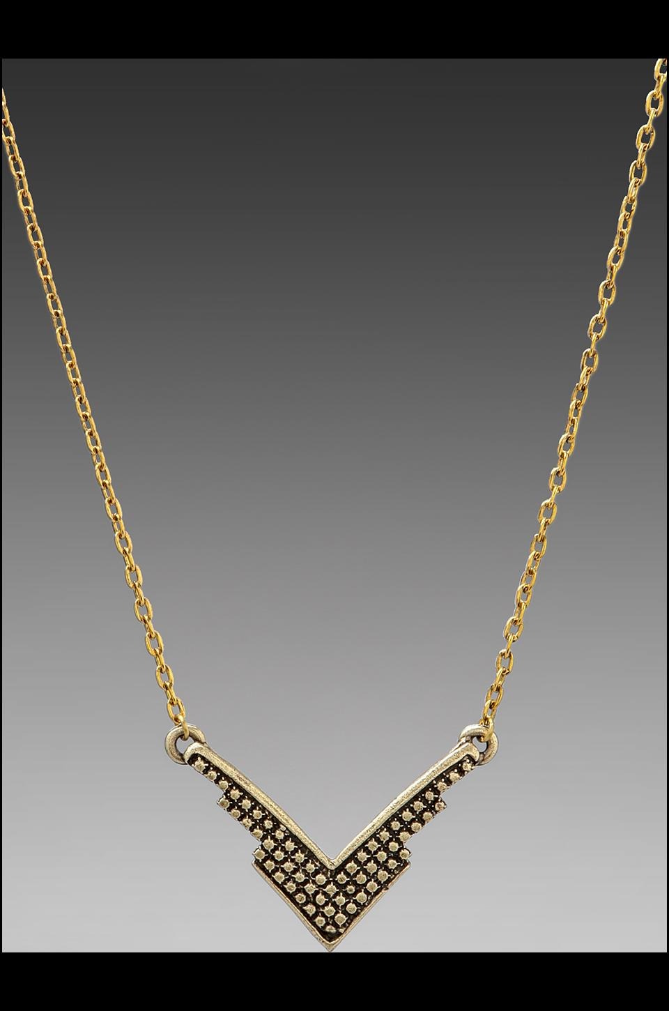 Vanessa Mooney DEPRECATED Vanessa Mooney Fortune's Fool Necklace in Brass