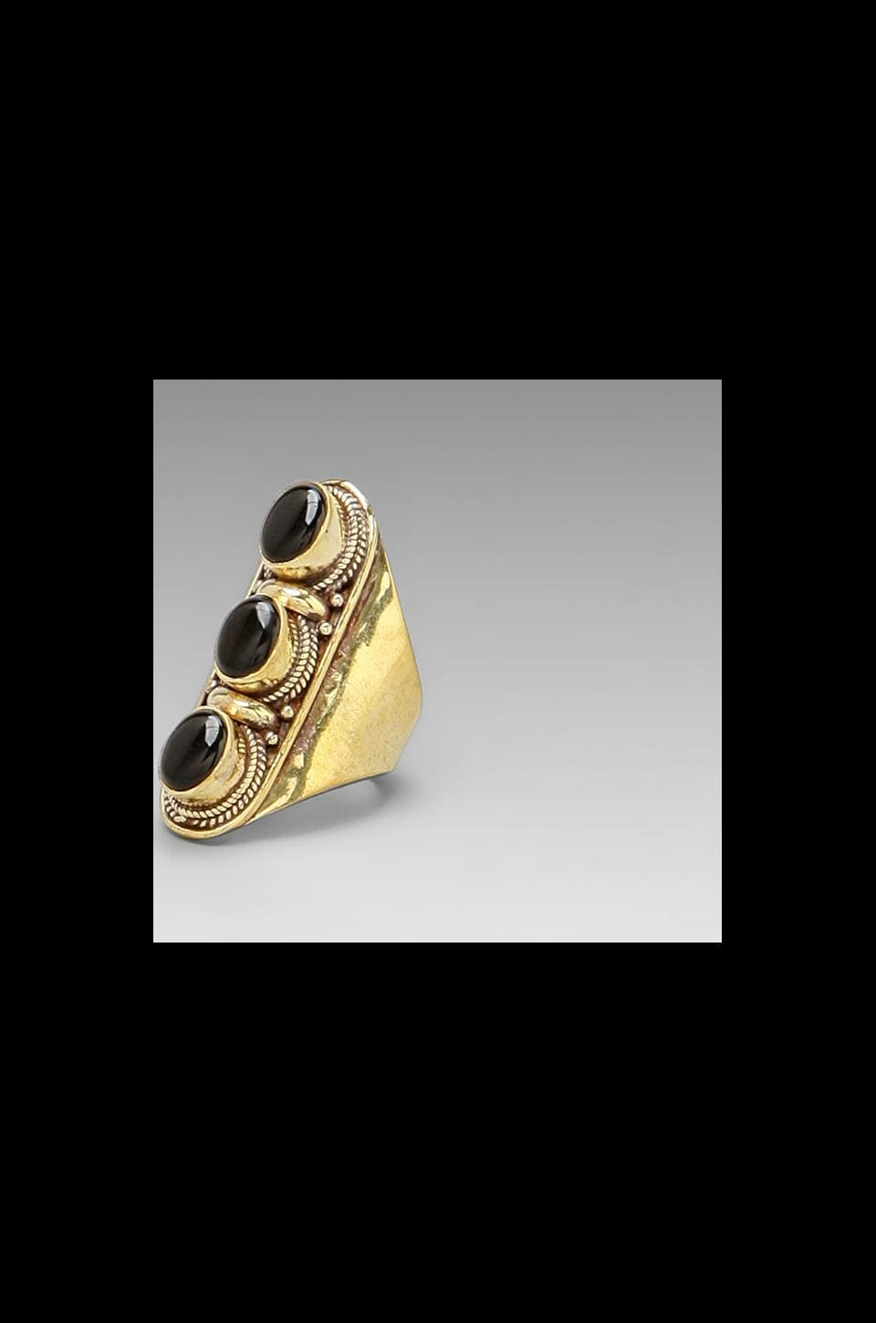 Vanessa Mooney DEPRECATED Vanessa Mooney The Conquered Ring in Onyx/Brass