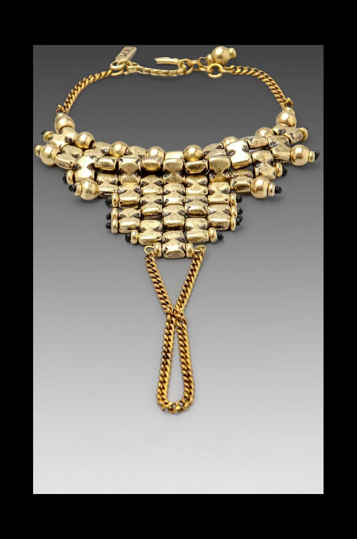 Vanessa Mooney DEPRECATED Vanessa Mooney Vanguard Hand To Ring Bracelet in Brass