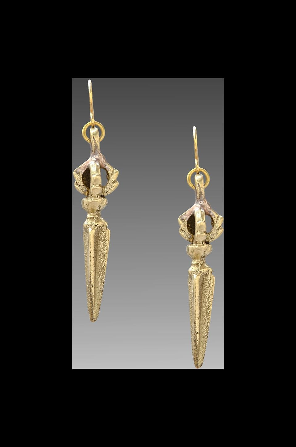 Vanessa Mooney DEPRECATED Vanessa Mooney Blade Of The Crown Earrings in Brass