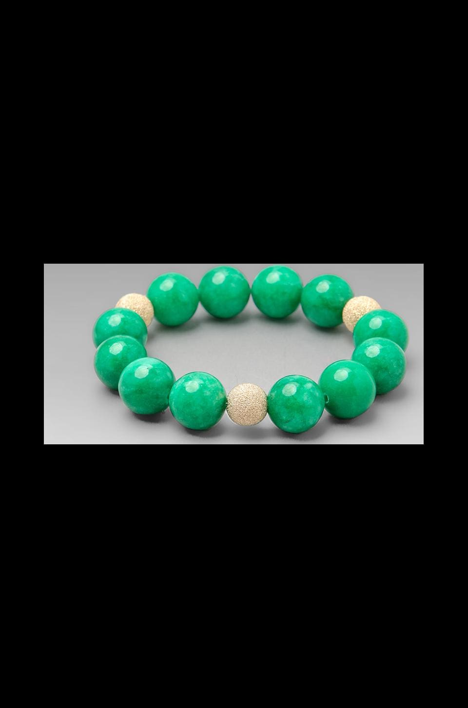 JNB DEPRECATED JNB Green Jade Smooth Bracelet in Green