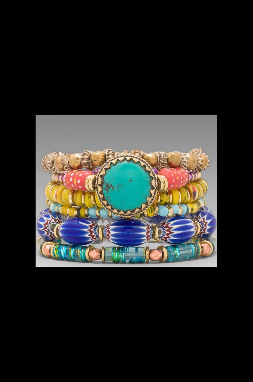 Vanessa Mooney DEPRECATED Vanessa Mooney Eye of the Storm Bracelet Set in Multi