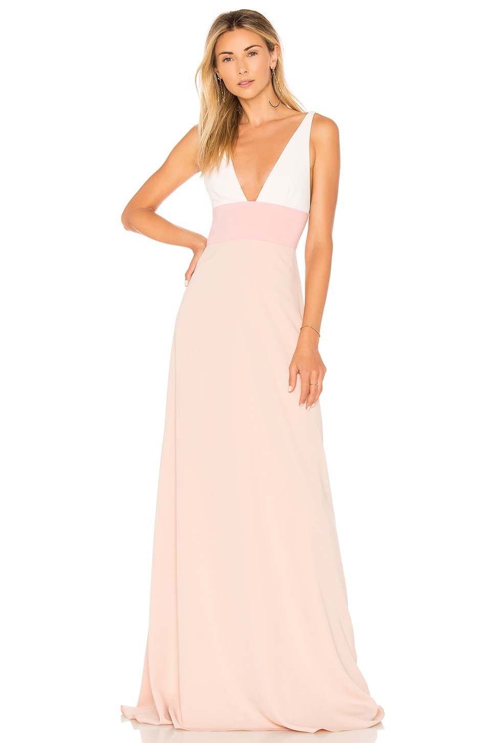 JILL BY JILL STUART TWO TONE GOWN