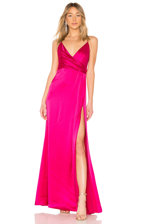 Jill By Jill Stuart Slip Gown In Fuchsia