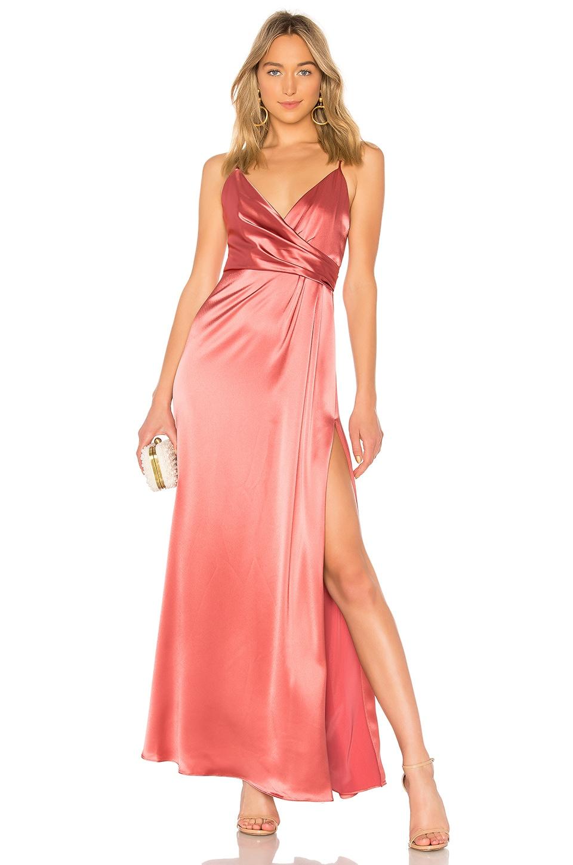 Jill Jill Stuart Wrap Gown In Rose Modesens
