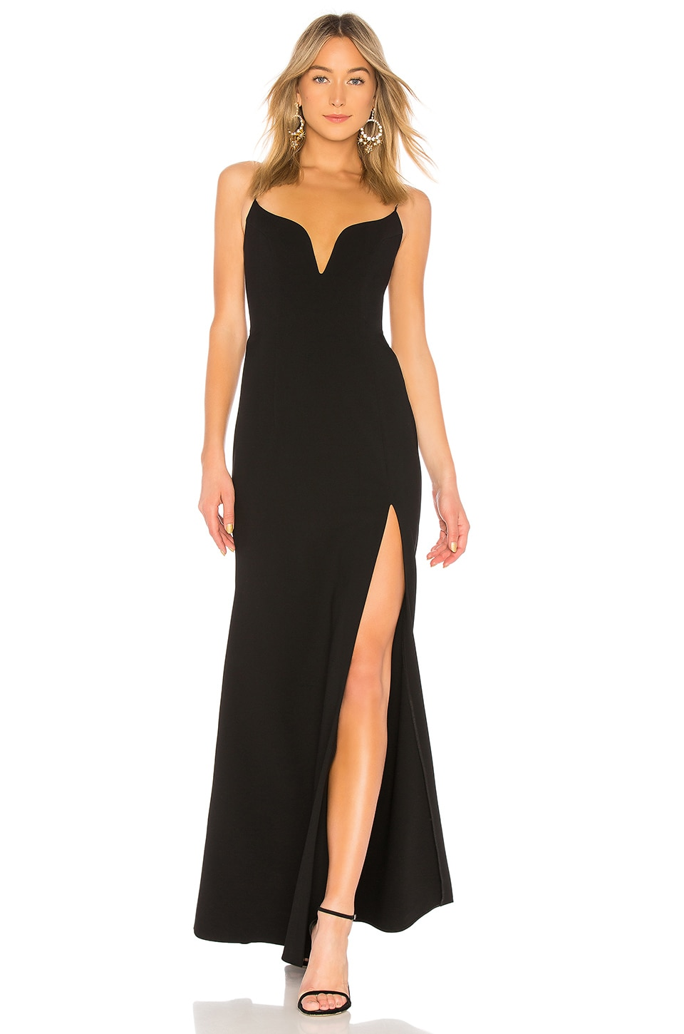 JILL JILL STUART Sweetheart Neck Gown in Black