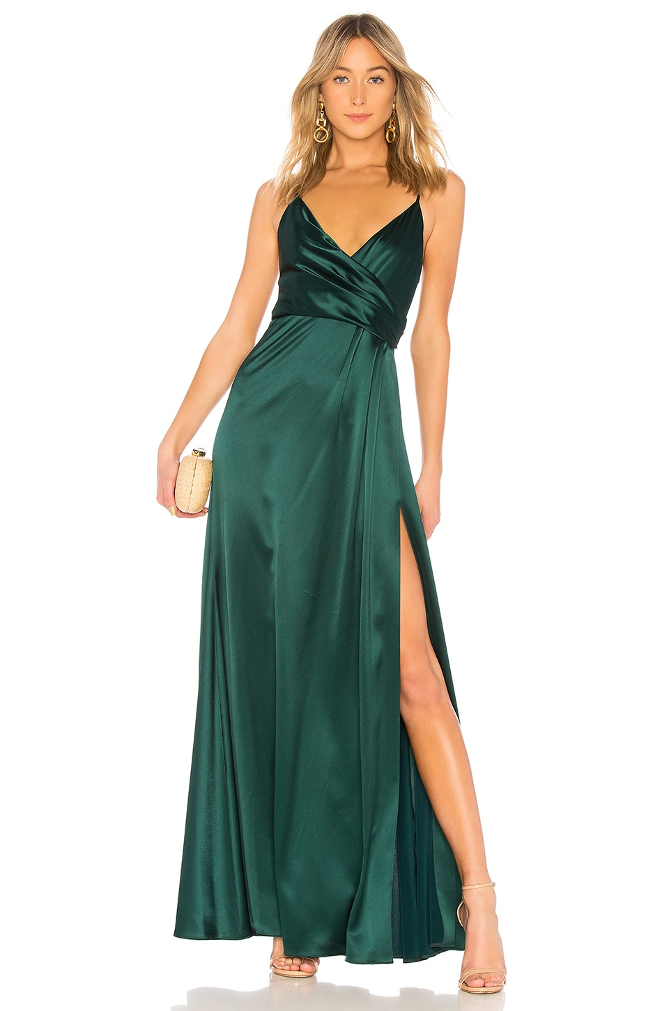 Wrap Front Gown