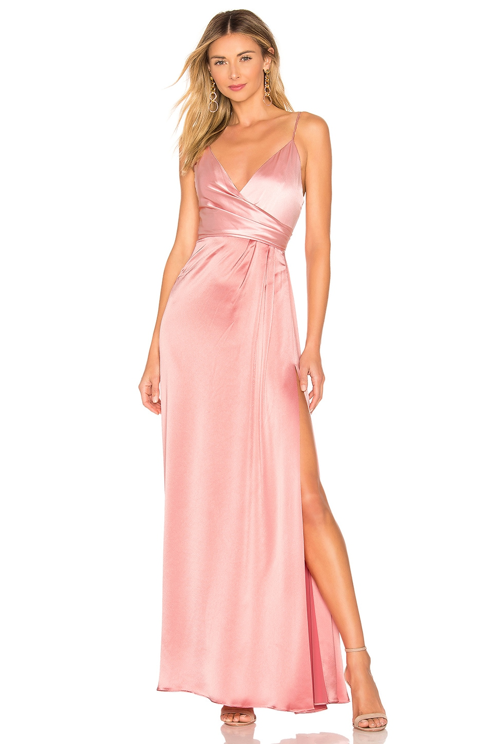 JILL JILL STUART Side Draped Gown in Rose Water