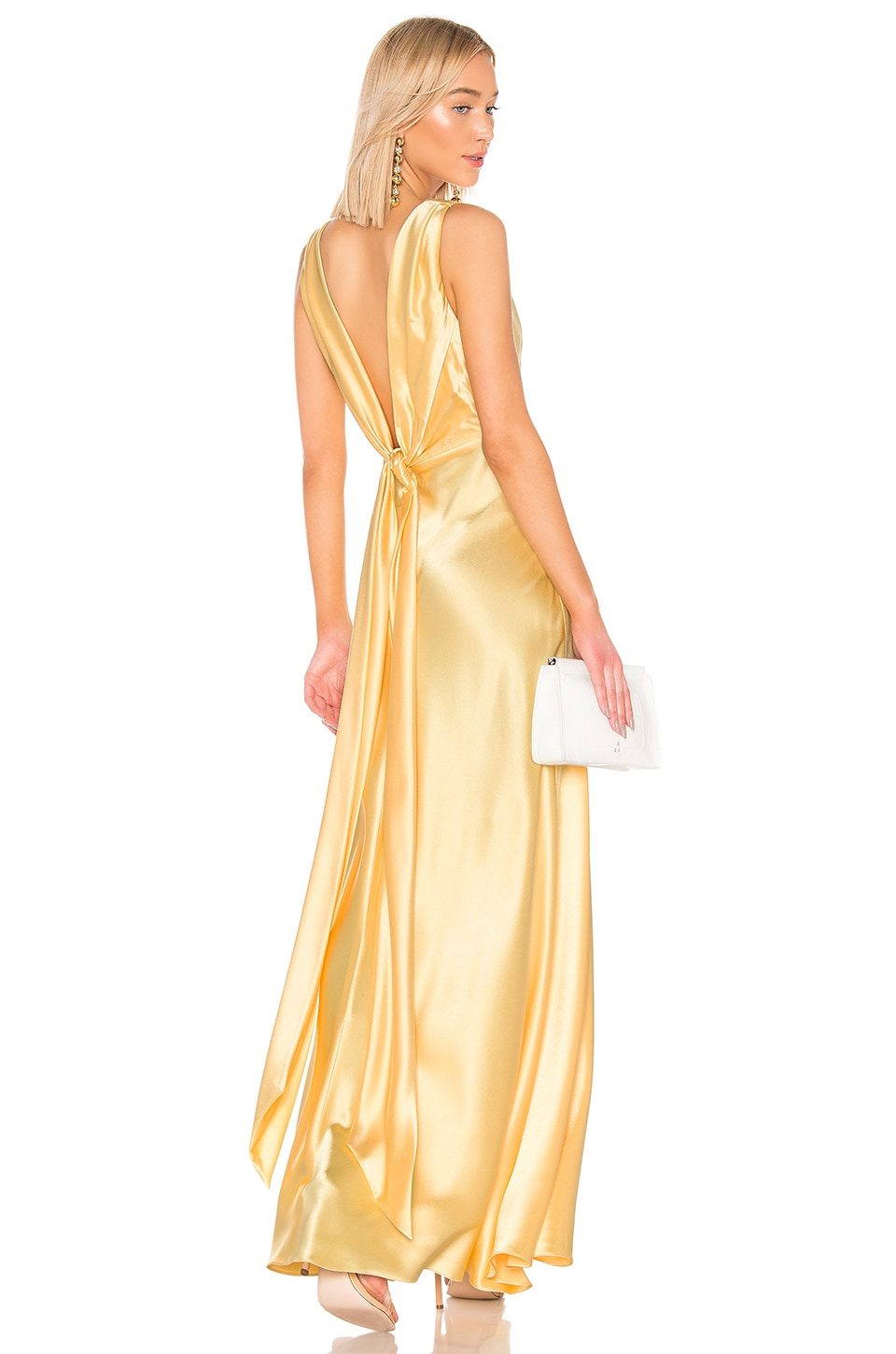 JILL JILL STUART Front Gathered Gown in Pale Yellow