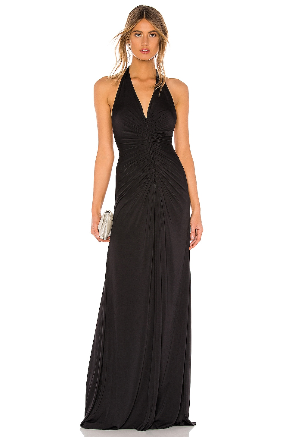 JILL JILL STUART Ruched Gown in Black