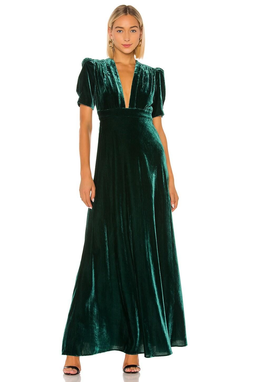 JILL JILL STUART Velvet Dress in Spruce