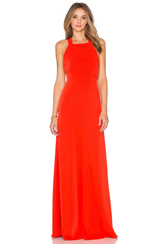 JILL JILL STUART High Neck Gown in Tangerine